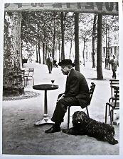 Robert Doisneau  Prevert at a Table Offset Lithograph Unsigned 13x10