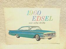 1960 Edsel Prestige Brochure Original