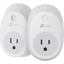 TP-LINK - Wi-Fi Smart Plug (2-Pack) - White HS100