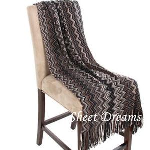 Kennebunk Home Bedford Cottage Marrakesh Cobblestone Chevron Knit Throw Blanket
