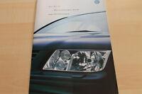 132450) VW Bora - technische Daten & Ausstattungen - Prospekt 04/2001