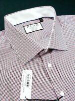 Thomas Pink Slim Fit Standard Cuff Polka Dotted Dress Shirt 18.5 x 36/37 $195