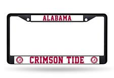 Alabama Crimson Tide Metal License Plate Frame - Car Auto Tag Holder - NEW Black