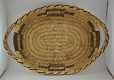New ListingAntique Native American Basket Tray Sw Coyote Trks Oval Pima Papago Handles Db72