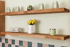 Solid Oak Wooden Floating Shelves - Top Quality Natural Timber Shelf / Shelving