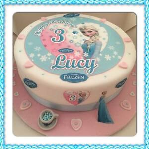 """Edible Disney FROZEN ELSA Icing 7.5"""" Cake topper & Extra's Personalised Any Age"""