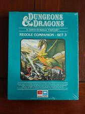 Dungeons & Dragons - Regole Companion - BECMI SET 3 SIGILLATO NUOVO - 1984