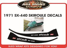 1971 SKIROULE SX-440 DECAL KIT, REPRODUCTION ski roule