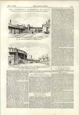 1893 Liverpool Overhead Railway DIP in doppia curva Alexandra Dock