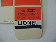 Lionel 2020 Steam Turbine Licensed Lionel Reproduction Box