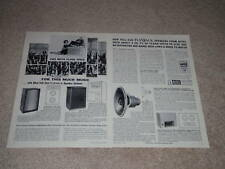 Altec Voice of the Theater Ad,1964,843a,604,844a,Specs
