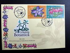 Romania Botanical Garden Flowers 2010 FDC of 2 Dicentra Heptica