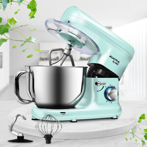 Electric Stand Mixer Stainless Steel Mixing Bowl 5.5L 6 Speed Dough Hook 1500W