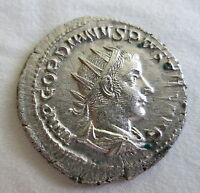 ROME Silver Antoninianus GORDIAN III Apollo XF