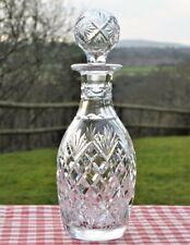 Stunning cut glass crystal decanter Sherry Wine spirit drinks
