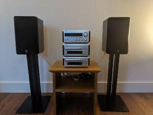 Yamaha Natural SoundAmplifier RX E100, CDX E100 & KX E100 w/Speakers&Stands