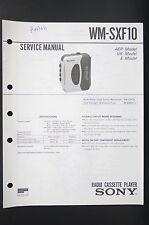 SONY WM-SXF10 Walkman/Radio Cassette Player Service-Manual/Schaltplan/Diagram 81