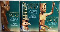 Série de 3 livres Égypte de Christian Jacq reine de la Liberté édition pocket