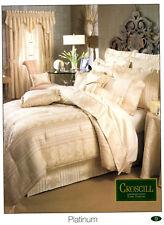 Croscill Bedding FULL Size Comforter Set Platinum Style #3883 w/Pillow Shams