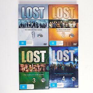 Lost Seasons 1 + 2 + 3 + 4 DVD Region 4 AUS TV Series Free Postage - Mystery