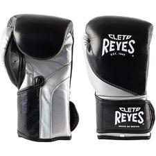 Cleto Reyes de alta precisión de gancho y bucle Guantes De Boxeo-Negro/Plateado Bala