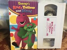 Barney's Red, Yellow And Blue! Video VHS educational Mint Condition