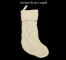 NEW Pottery Barn Christmas Cable CHUNKY KNIT Stocking IVORY *NO MONO *More Avail