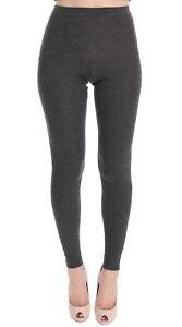 NEW $840 DOLCE & GABBANA Tights Pants Gray Cashmere Stretch Waist IT44 / US10/ L