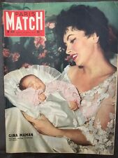 Paris Match 10/08/57 Gina Lollobrigida maman Mode Dior Sahara Pétrole