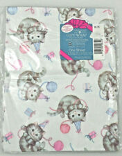 American Greetings Gift Wrap Cat Kitten Birthday One Sheet 8.33 sq ft NOS Cute