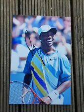 American Tennis Ace Donald Young Handsigned Colour Photograph