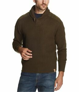 Weatherproof Mens Toggle Pullover Sweater, Green, Small