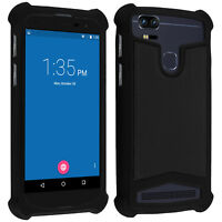 """Universal faux-leather shock absorbing case for 5.3"""" - 5.5"""" Smartphones - Black"""