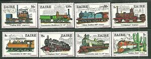 ZAIRE 935-42 MNH TRAINS OF THE WORLD SCV 11.10