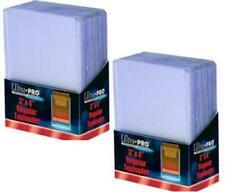 50 Rigid Baseball 3X4 Card Toploader Storage Holders Ultra Pro