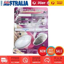 Pedi Mate Foot File Pedicure Egg 12 Pieces Set Tool Kit Dry Skin Callus Remover