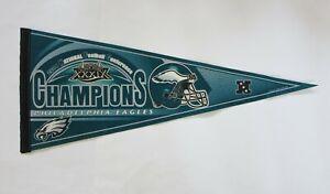 2004 Philadelphia Eagles NFC Champions NFL Pennant, SB XXXIX Hologram USA