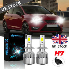 FOR SEAT IBIZA TWIN 2008-2017 H7 WHITE LED LIGHT FULL SET KIT BULBS XENON 6000K