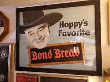 Bond Bread Vintage Cardboard Sign Rare Hopalong Cassidy