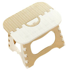 Plastic Collapsible Step Stool Non Slip Home Kitchen Garage Camping Beige