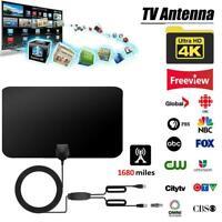 Indoor TV Aerial 1680 Mile Digital HDTV Amplified Antenna Arial Freeview 4K 1080