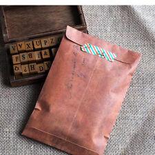 10 Pcs Retro Style Brown Kraft Paper Envelopes Paper Bag Air Mail Gifts Envelope