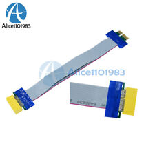 PCI-E 1X Slot Riser Card Extender Extension Ribbon Flex Flexible Relocate Cable