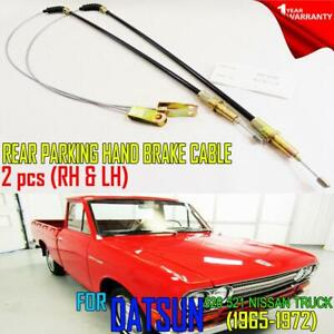 FOR DATSUN 520 521 NISSAN PICKUP 65-72 70 REAR  HAND BRAKE CABLE RIGHTx1 LEFTx1