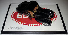Heco Miniatures 1/43 1937 Bugatti 57C Atalante Black Road Car - Open Door #/200