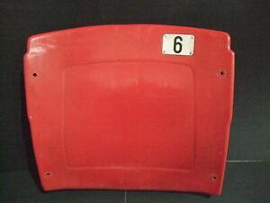 Busch Stadium seat back #6 Stan Musial St Louis Cardinals