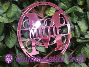 Personalised Monogram Large ANY NAME Acrylic MDF Mirror Wall Hoop Decoration