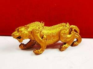 Powerful Magic Tiger Talisman Protection Lucky Money Thai Amulet Figure TAKRUD