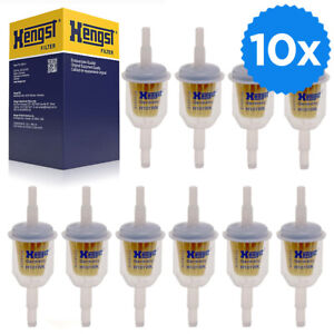 10 x Kraftstofffilter Hengst H101WK universal Benzinfilter Universalfilter