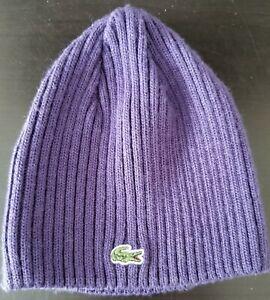 Lacoste Purple Toque Hat Beanie